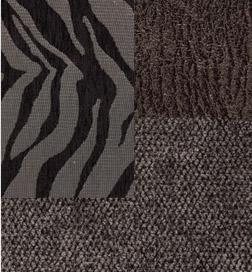 GLIMMER KENSINGTON CHARCOAL - ZEBRA BLACK