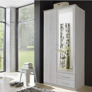 Osaka Wardrobe White Oak