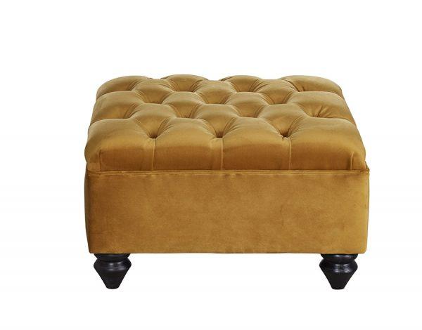 Winchester Fixedtop stool Mustard