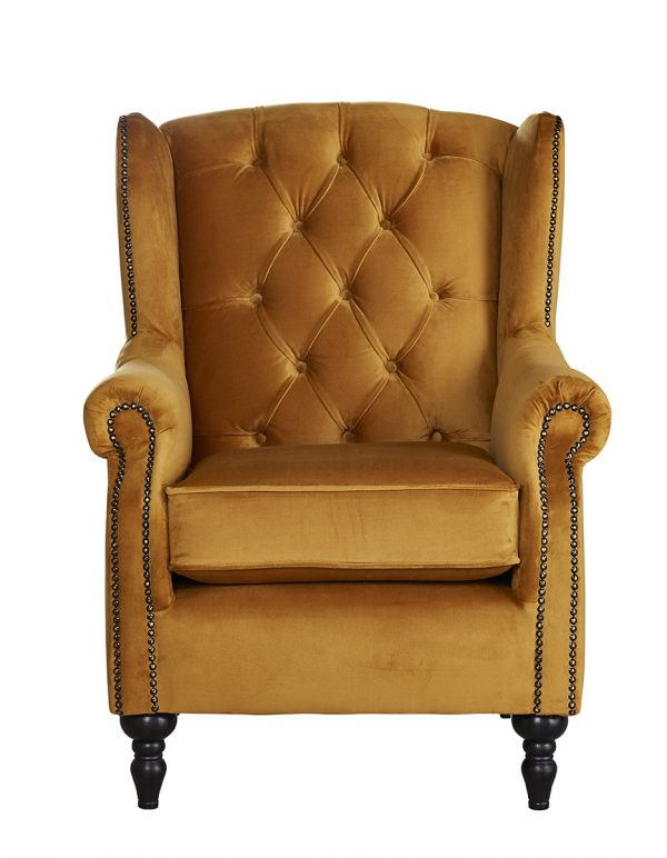 Winchester_Wing Back mustard chair