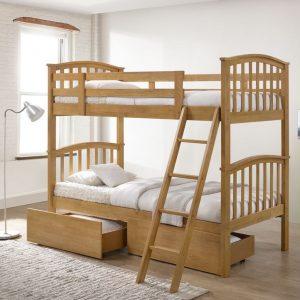 Artisan Arch Oak Bunk Bed