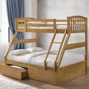 Artisan Arch Style Three Sleeper Bunk BedArtisan Arch Style Three Sleeper Bunk Bed