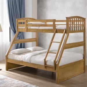 Artisan Arch Style Three Sleeper Bunk Bed No Draws