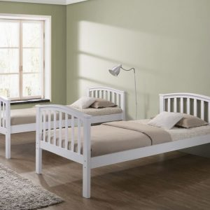 Artisan Arch White Bunk Bed Bed Split with Draws