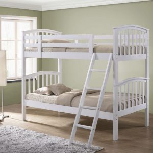 Artisan Arch White Bunk Bed No Draws
