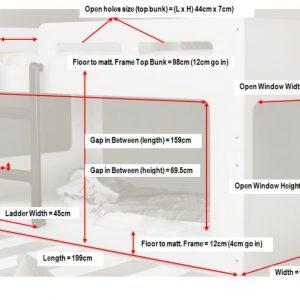 Artisan Rectangular Bunk Bed Dimensions