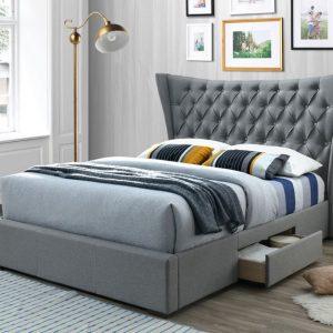 Artisan Fabric Drawer Bed Light Grey
