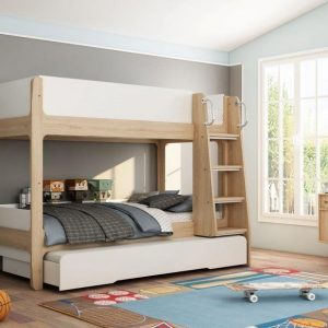 Artisan Trio Bunk Bed with Pull-Out Trundle