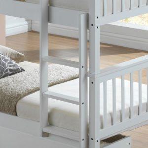 Artisan White bunk ladders close up