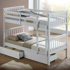Artisan White bunk with draws