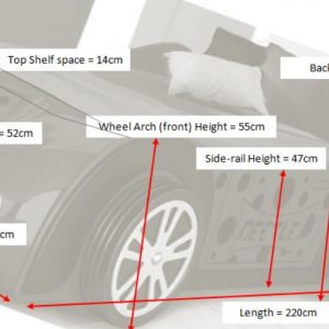 Beetle Red Car Dimensions