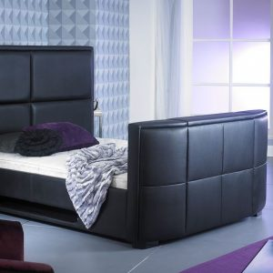 Bonded Leather TV Bed Black