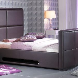 Bonded Leather TV Bed Brown
