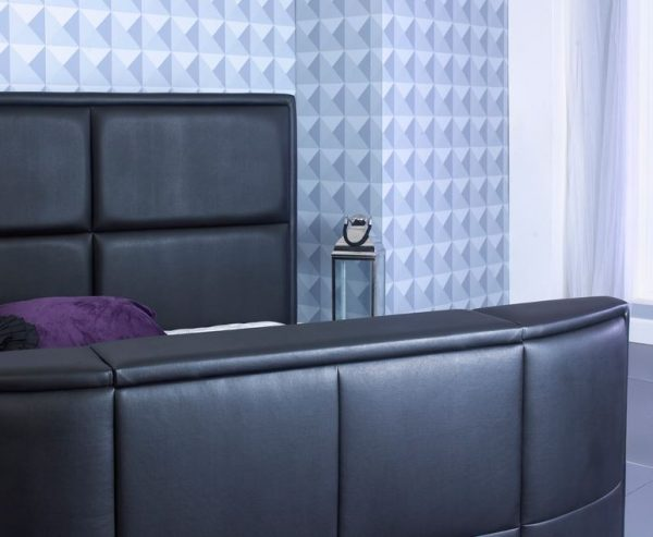 Bonded Leather TV Bed Close Up Black