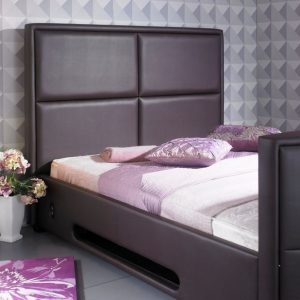 Bonded Leather TV Bed Close Up Brown