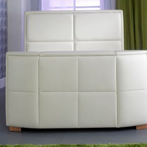 Bonded Leather TV Bed Close Up Ivory