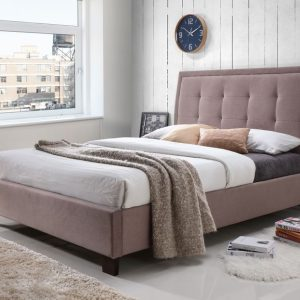 Brown Fabric Bed
