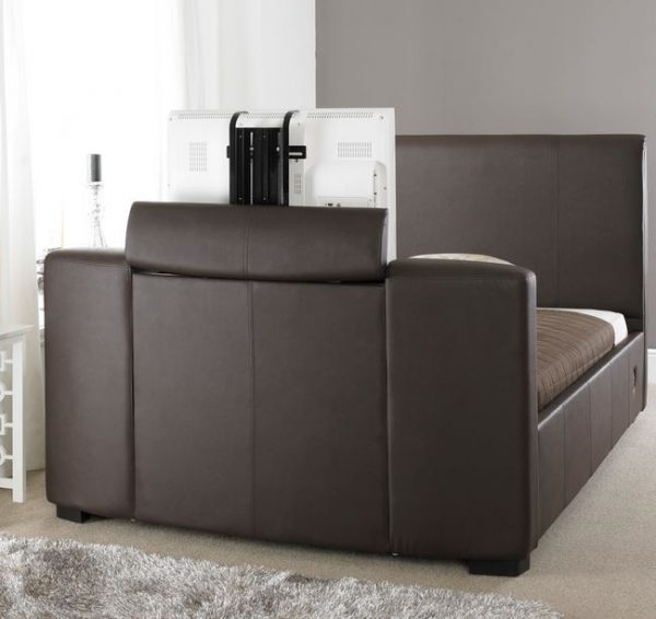 Brown Leather TV Bed