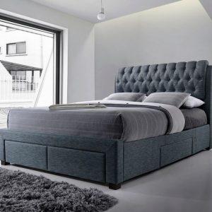 Dark Grey 2 Fabric Bed 2