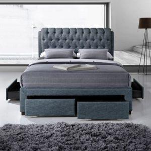 Dark Grey 2 Fabric Bed