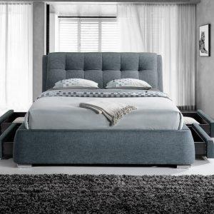 Dark Grey 4 Drawer Bed