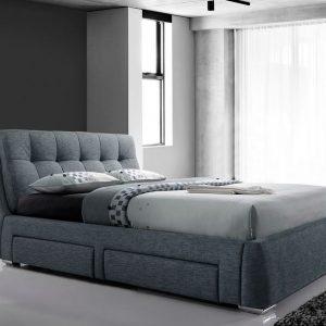 Dark Grey 4 Drawer Bed Closed