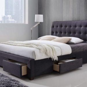 Dark Grey Four Draw Bed