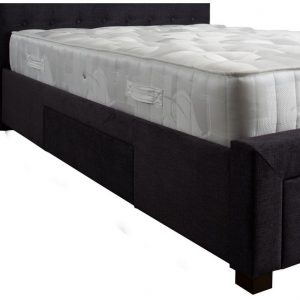 Dark Grey Four Draw Bed Base Close Up