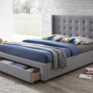 Devon Heather Grey Drawer Bed