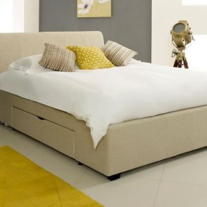 Fabric Drawer Bed Close