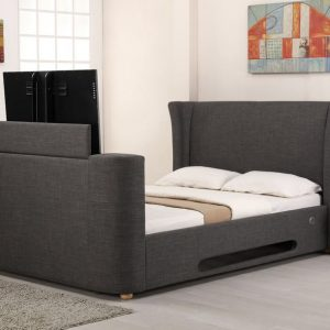 Grey Elephant Fabric Audio TV Bed