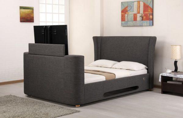 Grey Elephant Fabric Audio TV Bed