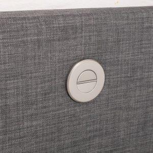 Grey Elephant Fabric Audio TV Bed Controls