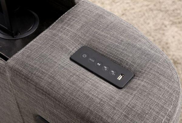 Grey Elephant Fabric Audio TV Bed Remote Controls
