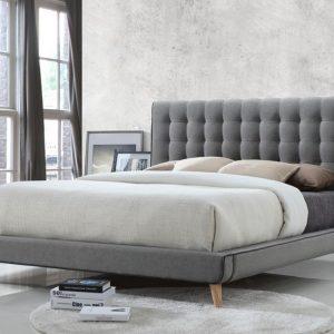 Grey Fabric Bed