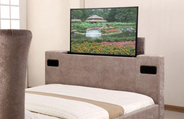 Mink Elephant Fabric Audio TV Bed