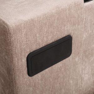 Mink Elephant Fabric Audio TV Bed Close
