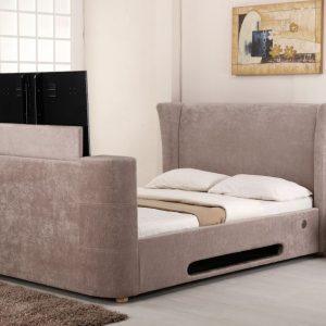 Mink Elephant Fabric Audio TV Bed Closed