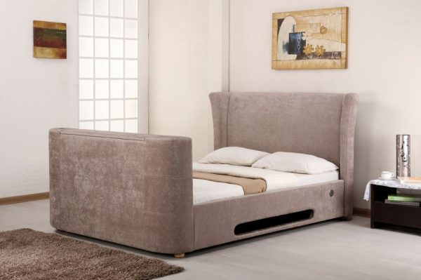 Mink Elephant Fabric Audio TV Bed View