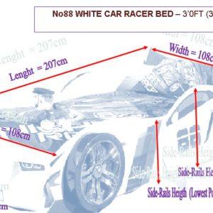 NO88 Racer Car Bed Dimensions