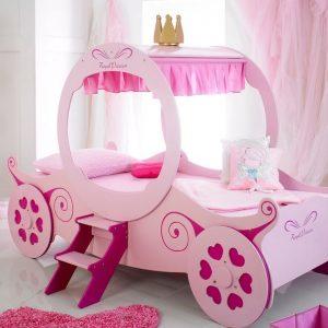 Pink Princess Carriage Car Bed
