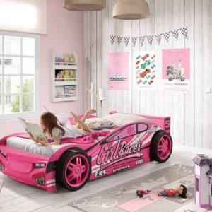 Sport Pink Car Racer Bed