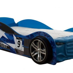 Twin Turbo Racer Car Bed Blue