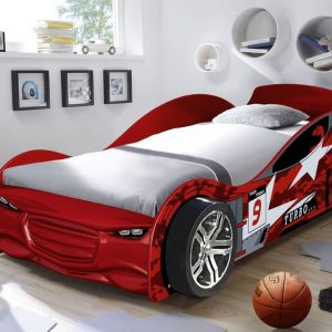 Twin Turbo Racer Car Bed Red